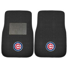 FANMATS Chicago Cubs 2-Pack Embroidered Car Mats