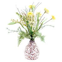 Designs by Lauren Artificial Yellow Wildflowers Arrangement