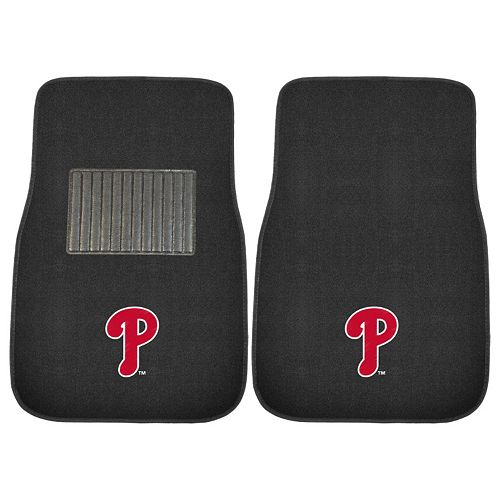 FANMATS Philadelphia Phillies 2-Pack Embroidered Car Mats