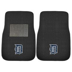 FANMATS Detroit Tigers 2-Pack Embroidered Car Mats