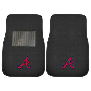 FANMATS Atlanta Braves 2-Pack Embroidered Car Mats