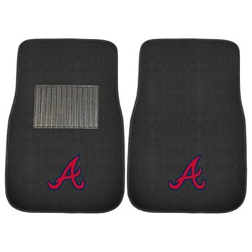 FANMATS Atlanta Braves 2-Pack Embroidered Car Mats