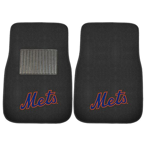 FANMATS New York Mets 2-Pack Embroidered Car Mats