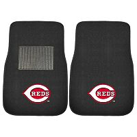 FANMATS Cincinnati Reds 2-Pack Embroidered Car Mats
