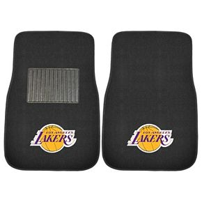 FANMATS Los Angeles Lakers 2-Pack Embroidered Car Mats