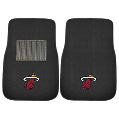 FANMATS Miami Heat 2-Pack Embroidered Car Mats
