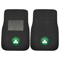 FANMATS Boston Celtics 2-Pack Embroidered Car Mats