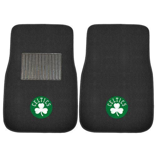 FANMATS Boston Celtics 2-Pack Embroidered Car Mats