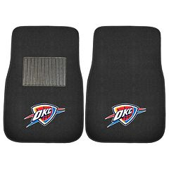 FANMATS Oklahoma City Thunder 2-Pack Embroidered Car Mats