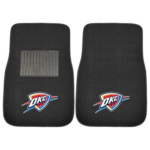 FANMATS Oklahoma City Thunder 2-Pack Embroidered Car Mats
