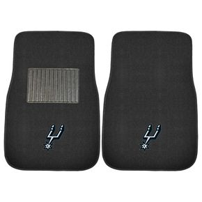 FANMATS San Antonio Spurs 2-Pack Embroidered Car Mats