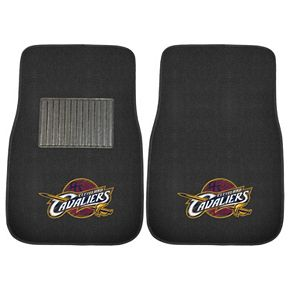 FANMATS Cleveland Cavaliers 2-Pack Embroidered Car Mats