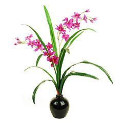 Designs by Lauren Artificial Red Orchid Arrangement