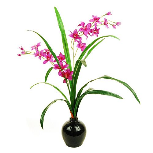 Designs by Lauren Artificial Red Orchid Arrangement
