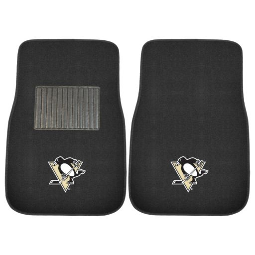 FANMATS Pittsburgh Penguins 2-Pack Embroidered Car Mats