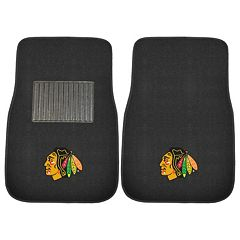 FANMATS Chicago Blackhawks 2-Pack Embroidered Car Mats