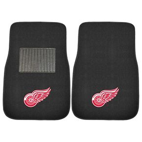 FANMATS Detroit Red Wings 2-Pack Embroidered Car Mats
