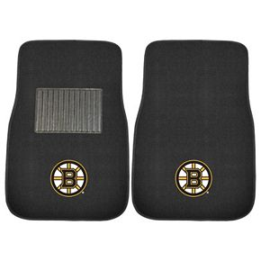 FANMATS Boston Bruins 2-Pack Embroidered Car Mats