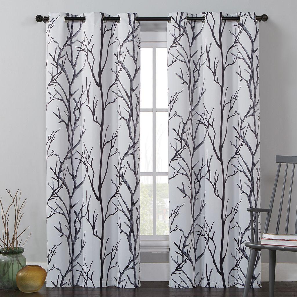 VCNY Kingdom Branches Window Curtains - 40'' x 84''