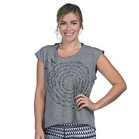 Women's PL Movement by Pink Lotus Whirl Top Yoga Tee