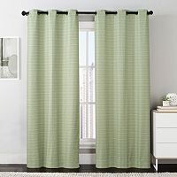 VCNY Manor Stripe Foamback Window Curtain Set - 38'' x 84''