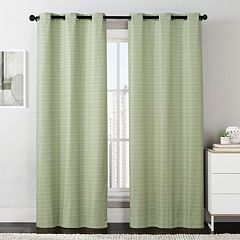 VCNY 2-pack Manor Stripe Foamback Window Curtains - 38'' x 84''