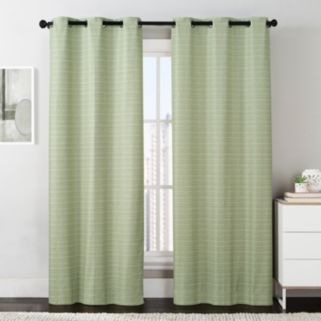 VCNY 2-pack Manor Stripe Foamback Curtains - 38'' x 84''