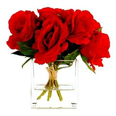 Designs by Lauren Artificial Red Rose Arrangement