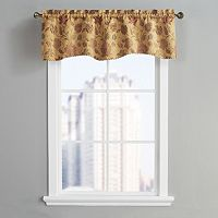 VCNY Nottingham Leaves & Vines Scalloped Window Valance - 54'' x 18''