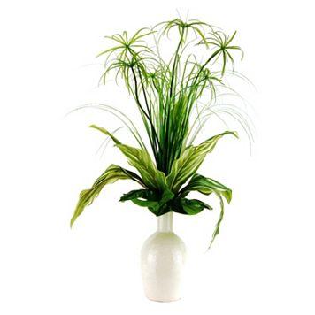Designs by Lauren Artificial Cypress Grass and Dracaena Arrangement