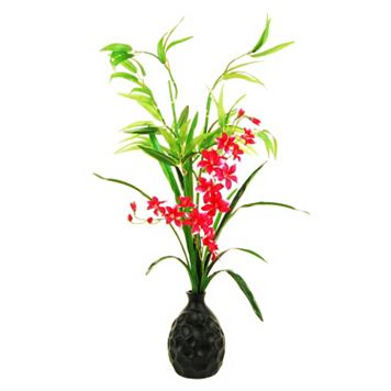 Designs by Lauren Artificial Orchids and Lucky Bamboo Arrangement