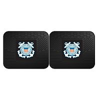 FANMATS United States Coast Guard 2-Pack Utility Backseat Car Mats