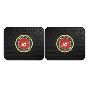FANMATS United States Marine Corps 2-Pack Utility Backseat Car Mats