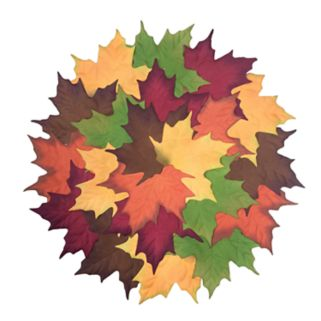 Celebrate Fall Together Pile of Leaves Placemat