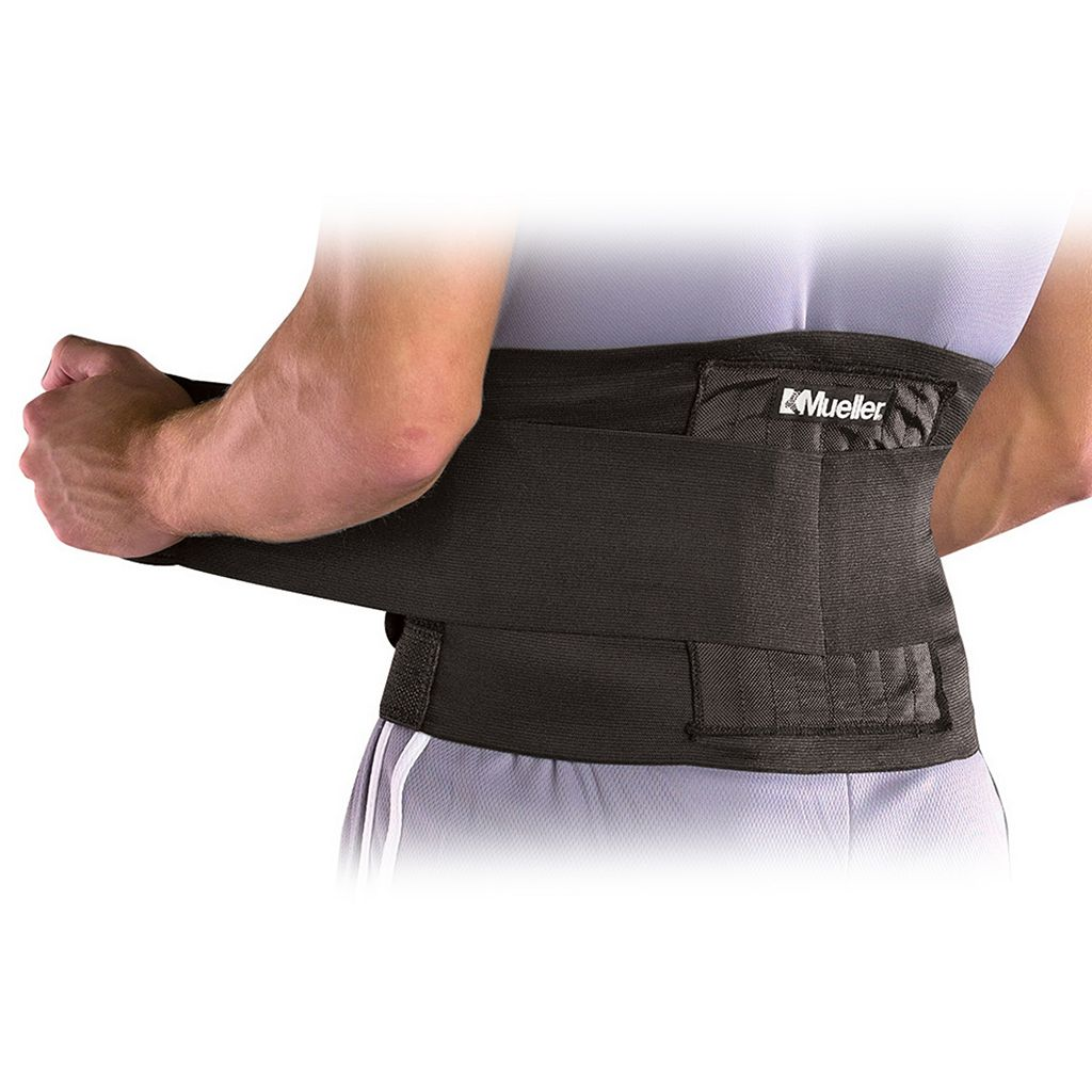 Adult Mueller Black Adjustable Back Brace