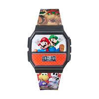Super Mario Bros. Kids' Digital Light-Up Sound Effects Watch