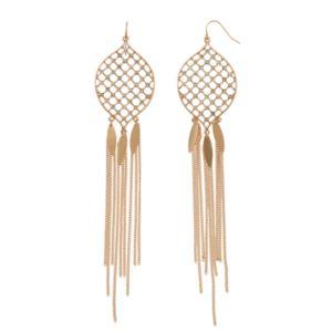 C.O. & Co. Marquise Fringe Earrings