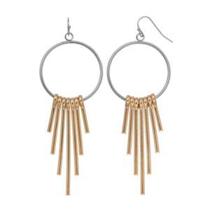 C.O. & Co. Two-Tone Hoop Stick Drop Earrings