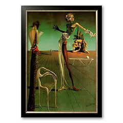 Art.com 'Woman with a Head of Roses' Framed Wall Art by Salvador Dali