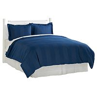 Grand Collection 600 Thread Count Park Avenue Dobby Check 3-piece Duvet Cover Set