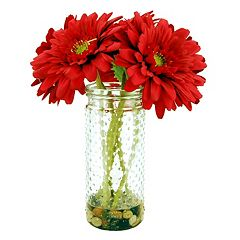 Designs by Lauren Artificial Red Gerber Daisy Arrangement