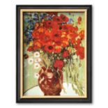 "Art.com ""Vase with Daisies and Poppies"" Framed Wall Art by Vincent van Gogh"