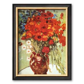 """Art.com """"Vase with Daisies and Poppies"""" Framed Wall Art by Vincent van Gogh"""