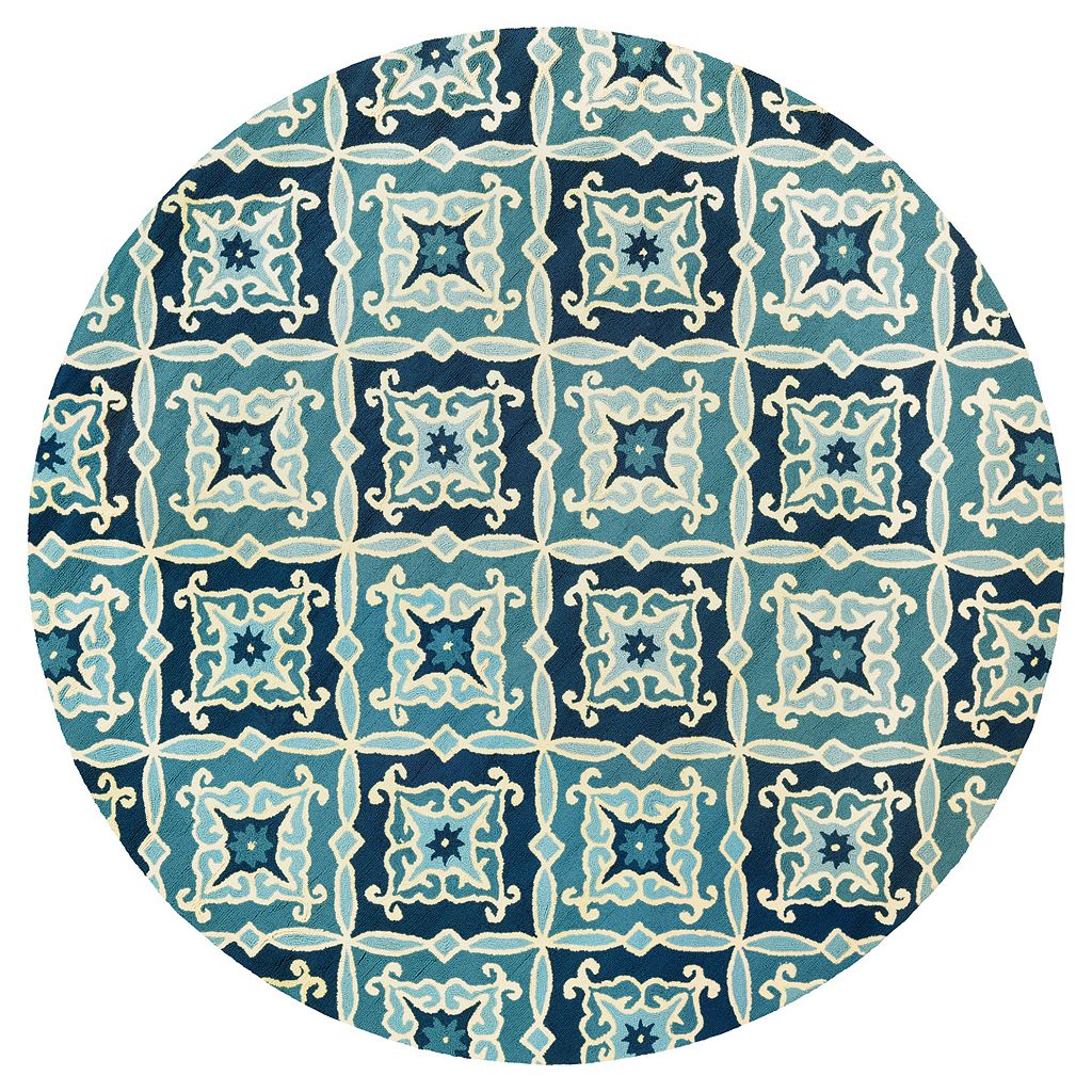 Couristan Beachfront Sea Glass Medallion Indoor Outdoor Rug