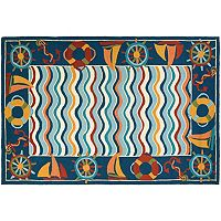 Couristan Beachfront North Bend Nautical Indoor Outdoor Rug