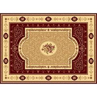Rugs America New Vision F. Aubusson Framed Floral Rug