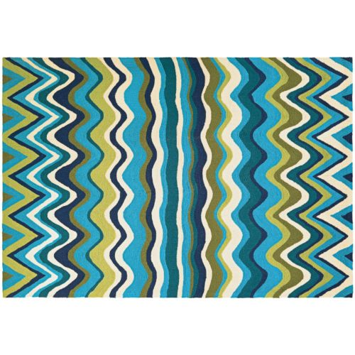 Couristan Beachfront Cannon Beach Wave Indoor Outdoor Rug