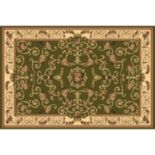 Rugs America New Vision Souvanerie Framed Floral Rug