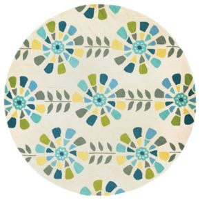 Couristan Beachfront Flower Bloom Indoor Outdoor Rug