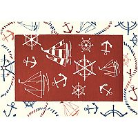 Couristan Beachfront Ocean Park Nautical Indoor Outdoor Rug